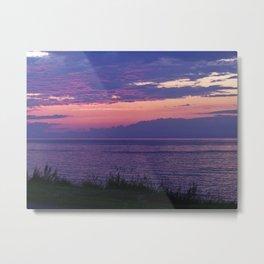 Purple Evening Clouds at Sea Metal Print