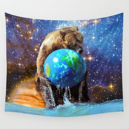 Give Planet Earth A Bear Hug! Wall Tapestry