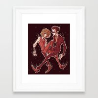 suits Framed Art Prints featuring suits by vvisti