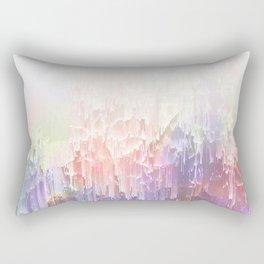 Frozen Magical Nature - Peach and Ultra-Violet Rectangular Pillow