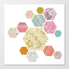 Summer honeycomb Canvas Print