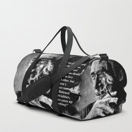 Charles Bukowski - black - quote Duffle Bag