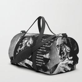 Charles Bukowski - black - quote Duffle Bag