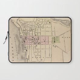 Vintage Map of Burlington Vermont (1873) Laptop Sleeve