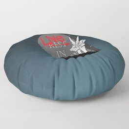 Live In Peace Floor Pillow
