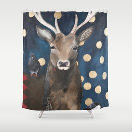 Stag with Tubbs and Goose Shower Curtain