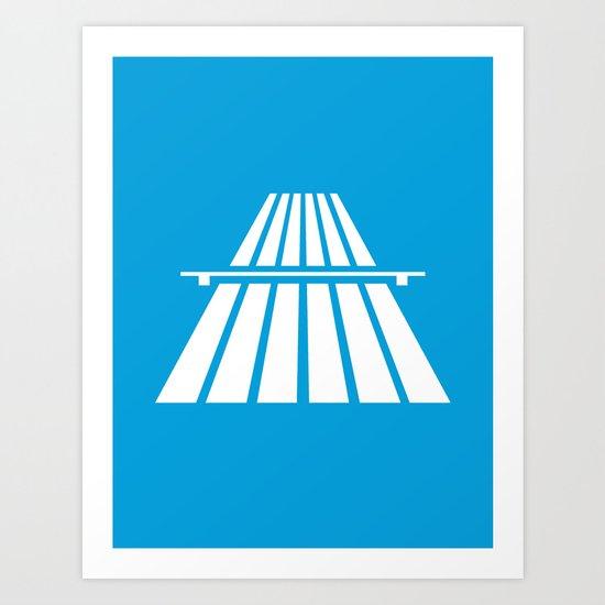 Autobahns | Autobahn | Motorway | Freeway | Highway | Bundesautobahn | Road sign Art Print