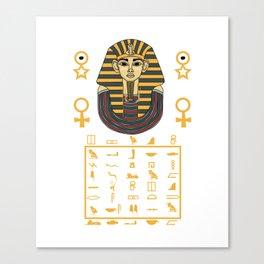 Pharaoh Egypt Pyramids Sphinx sign gift Canvas Print