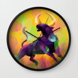 Ragging Bull Wall Clock