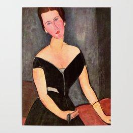 """Amedeo Modigliani """"Portrait of Madame Georges Van Muyden.jpg Poster"""