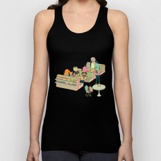 eating at johnny´s Unisex Tank Top