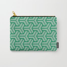 Abstract Geometric Pattern - Green Carry-All Pouch