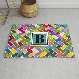 B Monogram Rug