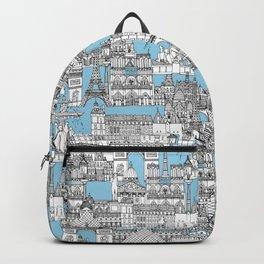 Paris toile cornflower blue Backpack