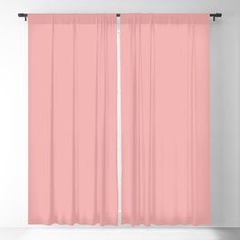 Classic Lush Blush Pink Solid Satin Color Blackout Curtain