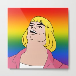He-man rainbow flag Metal Print
