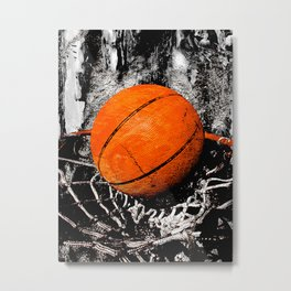 The basketball Metal Print