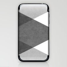 black and white triangles iPhone & iPod Skin