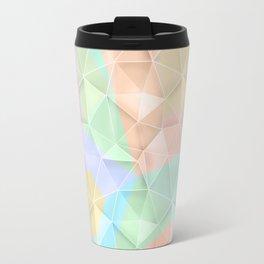 Polygonal pattern in pastel colors. Travel Mug
