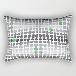 Dottywave - Grey and green wave dots pattern Rectangular Pillow