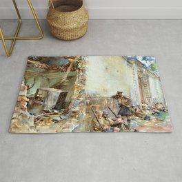 John Singer Sargent - A Street in Arras - Digital Remastered Edition Rug