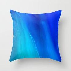 Blue Ocean abstract Throw Pillow