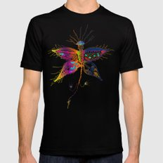 Butterfly spirit Mens Fitted Tee Black MEDIUM