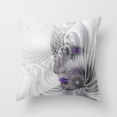 behind the fractal -a- Throw Pillow