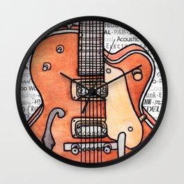 Music for the Soul & Spirit - Orange Series Wall Clock