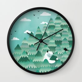 Tree Hugger (Spring & Summer version) Wall Clock