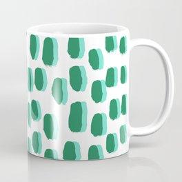 Minimal white and green dots pattern polka dot print basic decor Coffee Mug