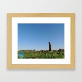 Standing Stone Framed Art Print