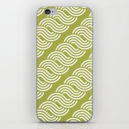 shortwave waves geometric pattern iPhone Skin