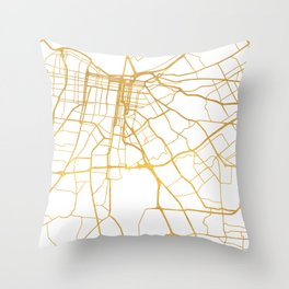 LOUISVILLE KENTUCKY CITY STREET MAP ART Throw Pillow