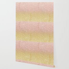 Modern rose gold glitter ombre gold glitter Wallpaper