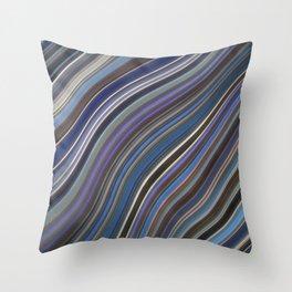 Mild Wavy Lines IV Throw Pillow