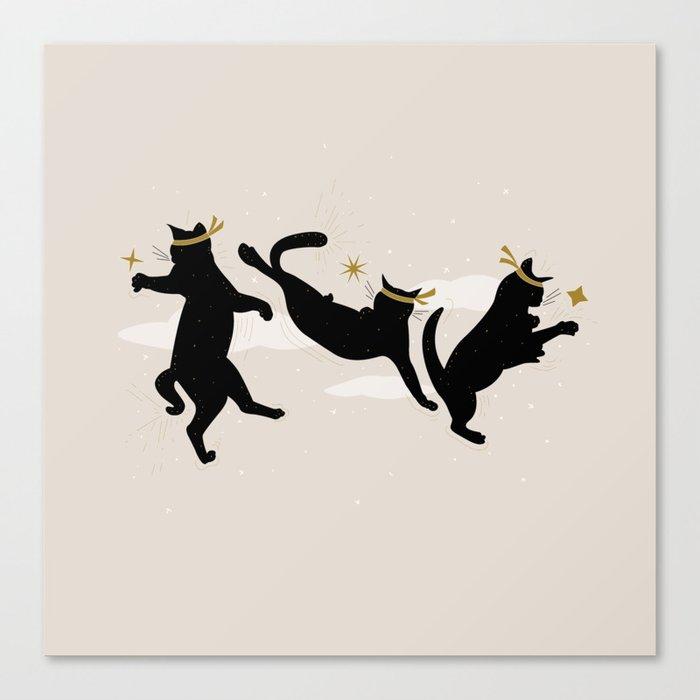 Ninja Cats I. Canvas Print