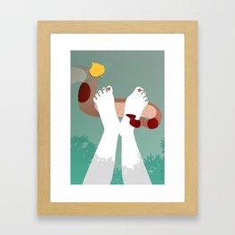 Dip it, don't be scared Framed Art Print