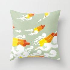 Flight of the rockets Throw Pillow
