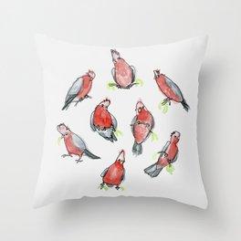 Galah Cockatoos Throw Pillow