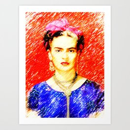 Looking for Frida Kahlo... Art Print