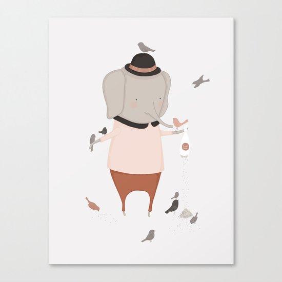 Stanley Makes Friends Canvas Print