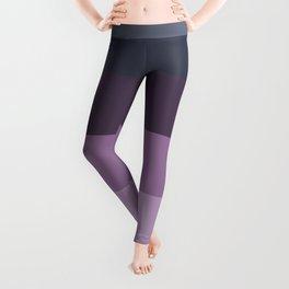 romantic Scandinavian minimalist mauve orchid lilac purple lavender stripe Leggings