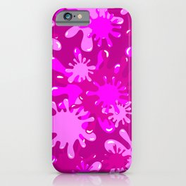 Slime in Hot Pinks iPhone Case
