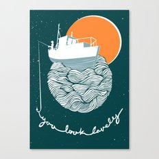 Fishing for Compliments Canvas Print