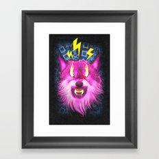 Eye Of The Wolf Framed Art Print