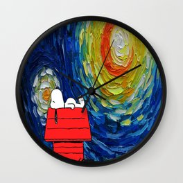 Snoopy Starry Night Wall Clock