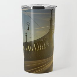 Liberty Bridge Sunset Travel Mug