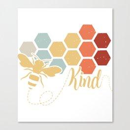 bee kind animals build nest colors working hard farm Canvas Print