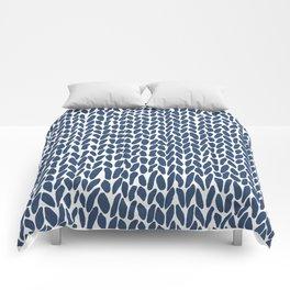 Hand Knit Zoom Navy Comforters